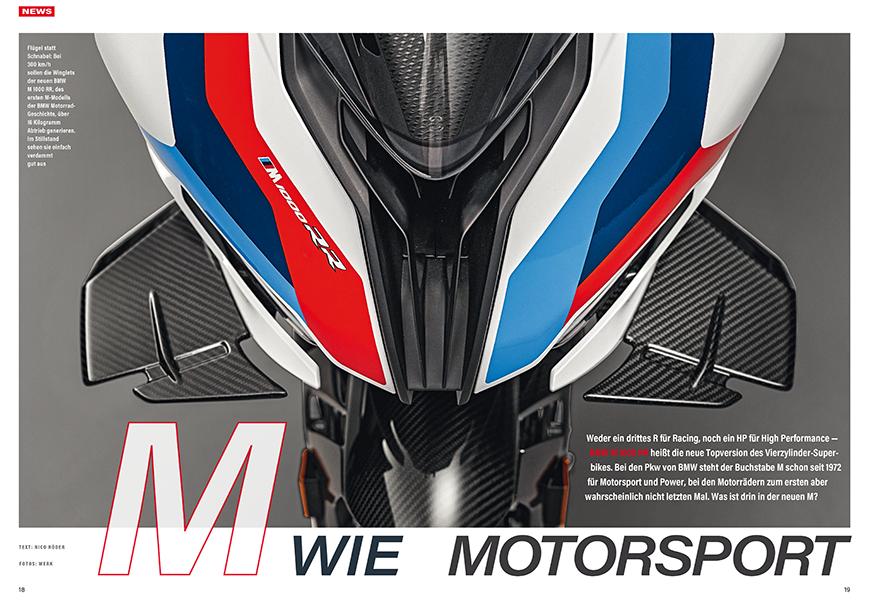 Sieganwärterin: neues Vierzylinder-Superbike M 1000 RR