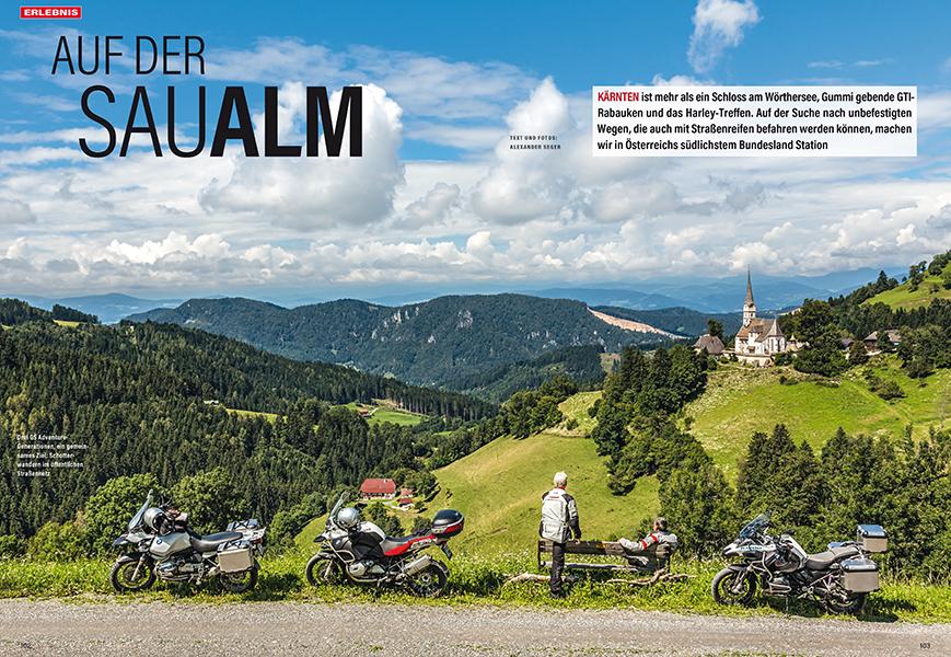 Mit drei GS Adventure in Kärnten auf Schotterstraßen unterwegs