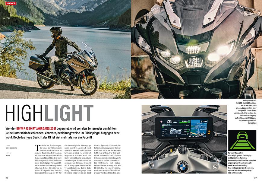 Neue BMW R 1250 RT mit dem besten Motorradlicht