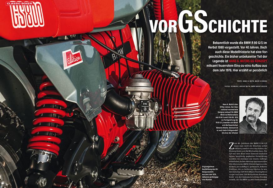 Die Vorgeschichte zur BMW R 80 G/S, erzählt von Design-Legende Hans A. Muth