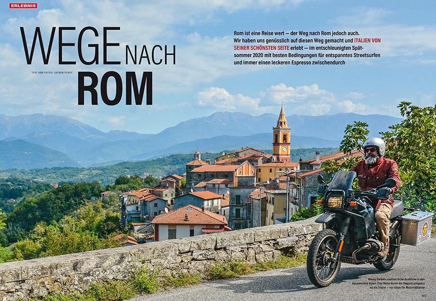 Erlebnis mit R 100 GS: Alle Wege führen nach Rom