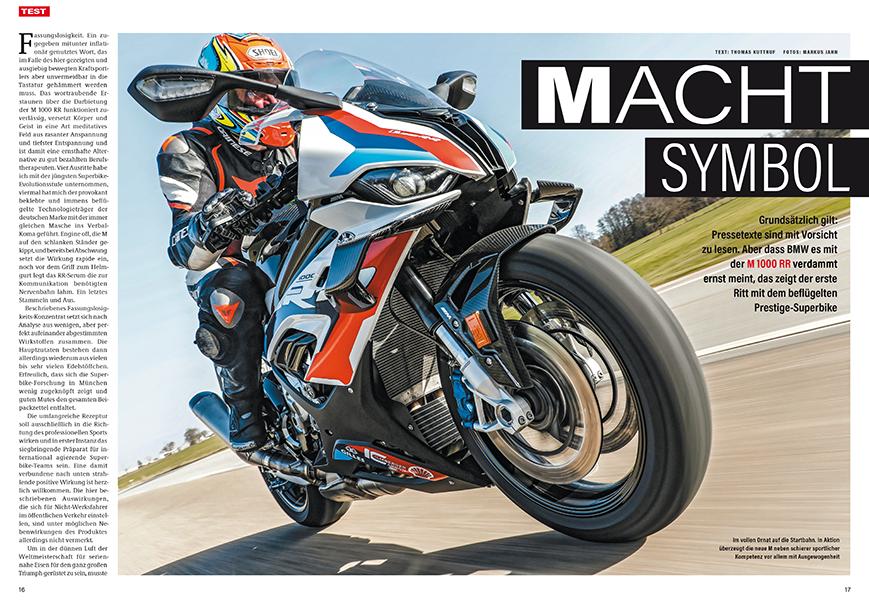 Test: neues Hyper-Superbike BMW M 1000 RR