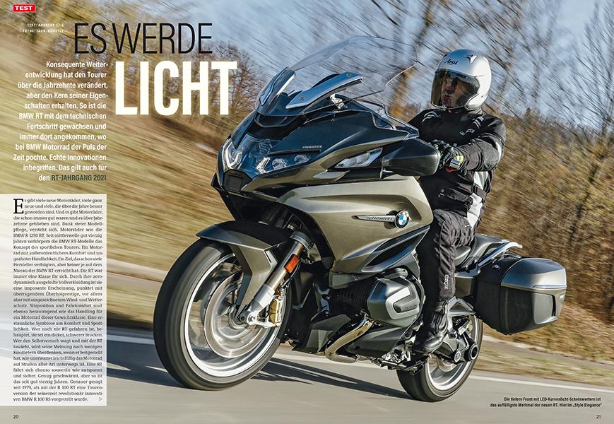 Test: BMW R 1250 RT mit genialem Kurvenlicht und rIesigem Display