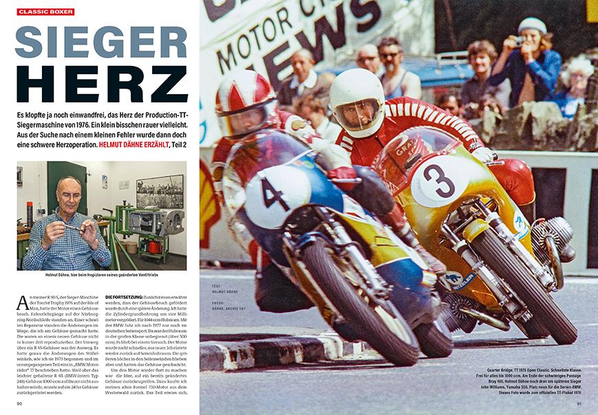 Helmut Dähnes Siegermaschine von der TT 1976 wiederaufgebaut. Er erzählt